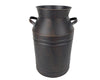 Tin Milk Can with Handles, Black