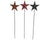 Tin Stars on Sticks, Assorted, Set of 6