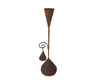 "Birch Maison Decorative Primitive / Farmhouse Tin Candle Stick with Snuffer on a Hanger, Rustic - 10.5"" Tall"