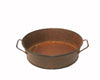 "RUSTIC TIN PAN W/HANDLE 6""x5.25""x1.5""  Craft Outlet"