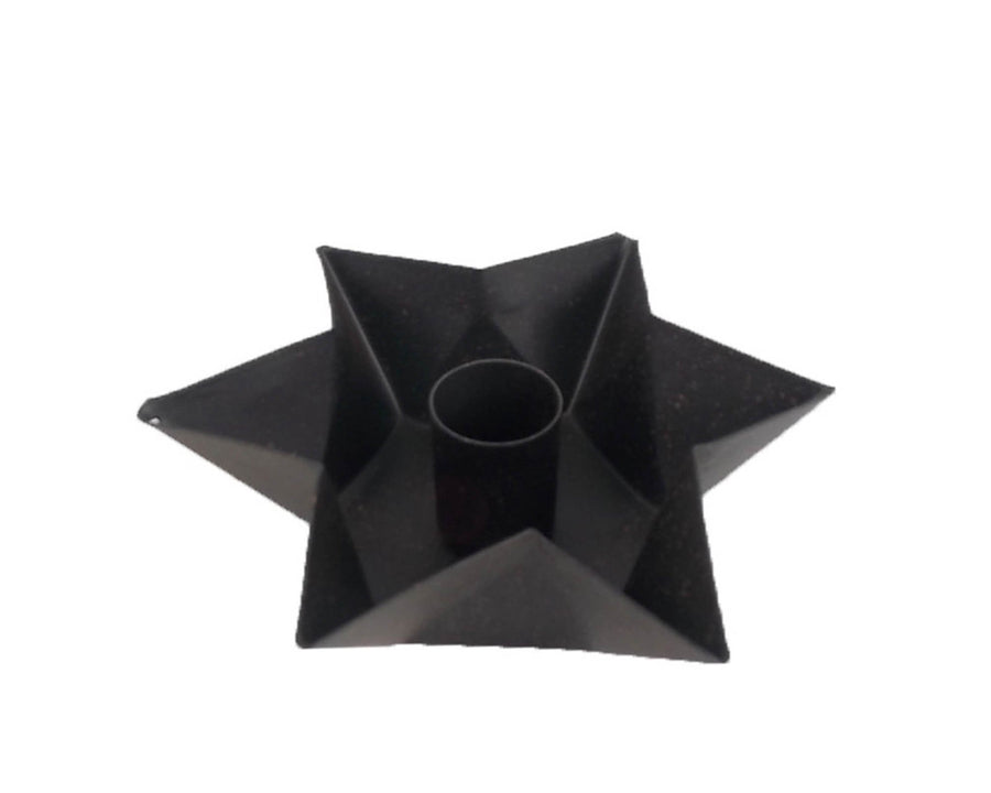 "RED STAR CANDLE HOLDER 5.25x5.25x1.75""  Craft Outlet"