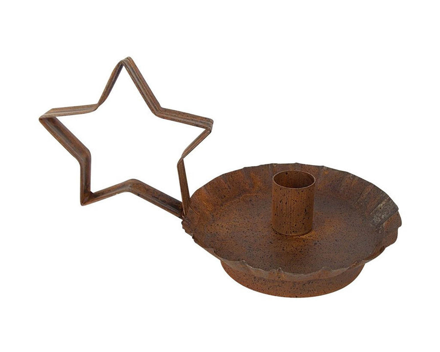 "BLACK STAR CANDLE HOLDER 7.5""X5.25""X4.5""  Craft Outlet"