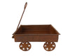 "Birch Maison Decorative Primitive / Farmhouse Tin Wagon with Pull Bar, Rustic - 12"" Tall"