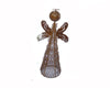 Tin Wired Mesh Angel Figurine, Rustic