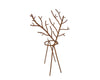 Abstract Tin Wired Reindeer Candle Holder, Rustic
