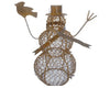 "TIN WIRED MESH SNOWMAN  20.5""  Craft Outlet"