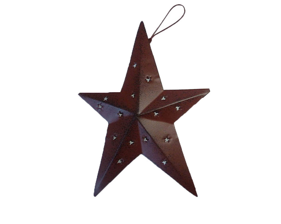 "6"" TIN CTRY STAR W/CUTOUTS RUSTY  Craft Outlet"