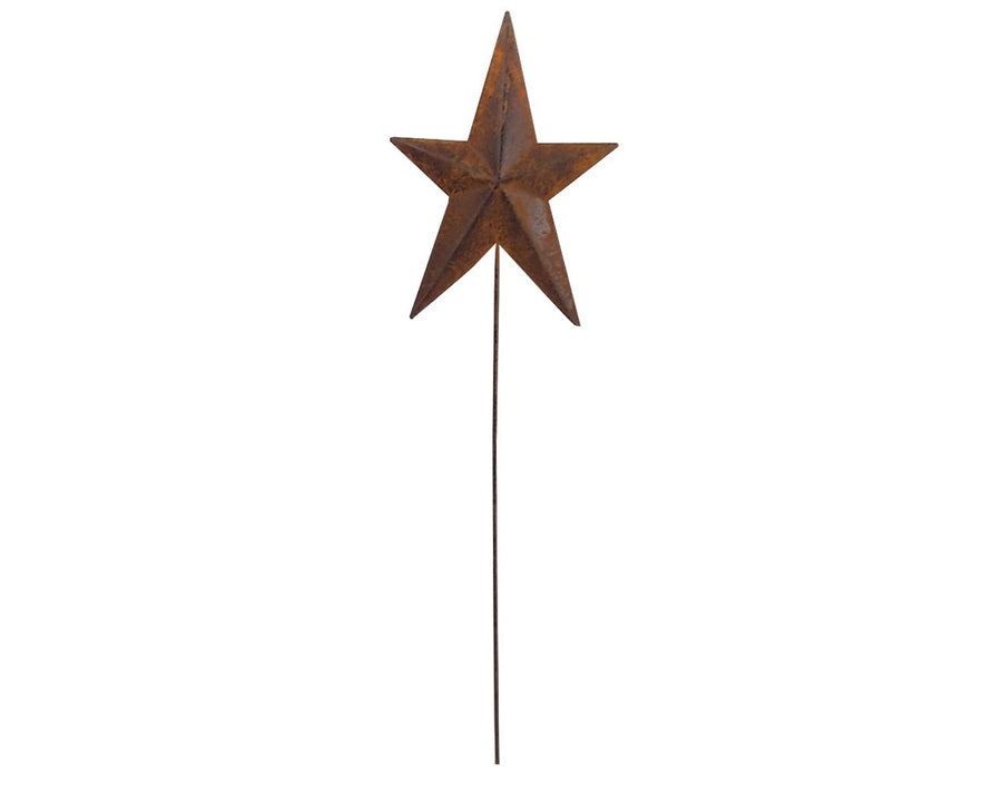 "Birch Maison Decorative Primitive / Farmhouse Tin Star Pick, Black - 16.5"" Tall"