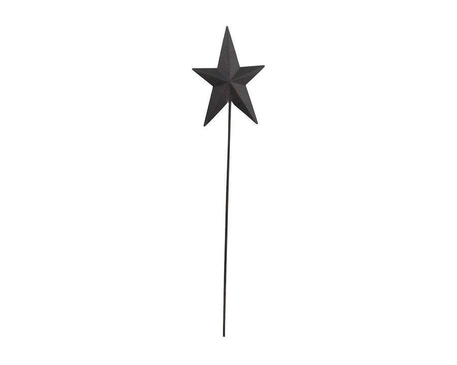 "Birch Maison Decorative Primitive / Farmhouse Tin Star Pick, Black - 15"" Tall"