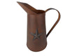 "RUSTY TIN PITCHER W/STAR 11""  Craft Outlet"