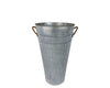 "GALVANIZED TIN  Flower Bucket 7.25 X 13""  Craft Outlet"