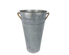"GALVANIZED TIN  Flower Bucket 8.25 X 15""  Craft Outlet"