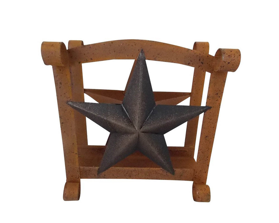 "BLACK  STAR TISSUE HOLDER 6.5""H  Craft Outlet"