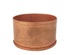 "Birch Maison Decorative Primitive / Farmhouse Small Tin Candle Holder / Container, Copper-Color - 2"" Dia"