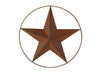 "TIN STAR W/WIRED RING 12"" DIA RUSTIC  Craft Outlet"
