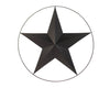 "TIN STAR W/WIRED RING 24"" DIA RUSTIC  Craft Outlet"