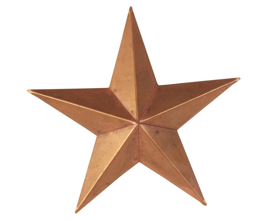 "Birch Maison Decorative Primitive / Farmhouse Tin Star with Star Cut Outs, Copper-Color - 6"" Tall"