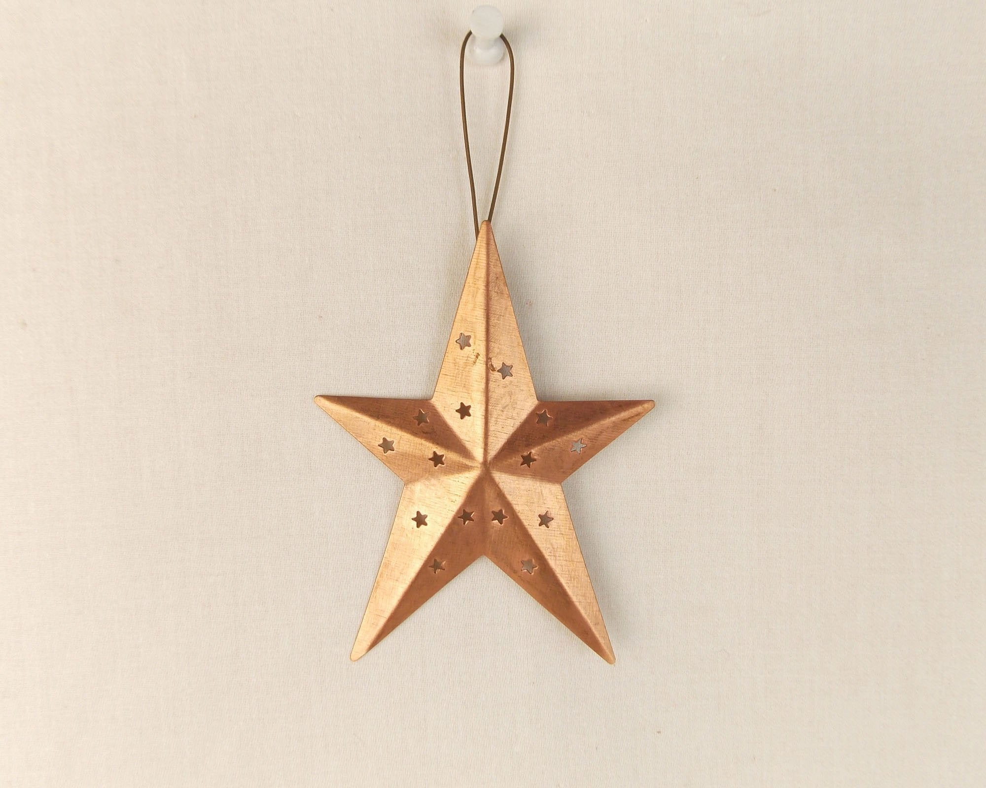 Medium Size Primitive Tin Star 1 Ornaments