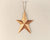 "Tin Star Ornament with Star Cut Outs, Copper-Color - 6"" Tall"