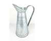 "Birch Maison Decorative Primitive / Farmhouse Galvanized Tin Pitcher with Handle, Natural - 15"" Tall"
