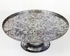 Large Galvanized Tin Cake Stand, Natural