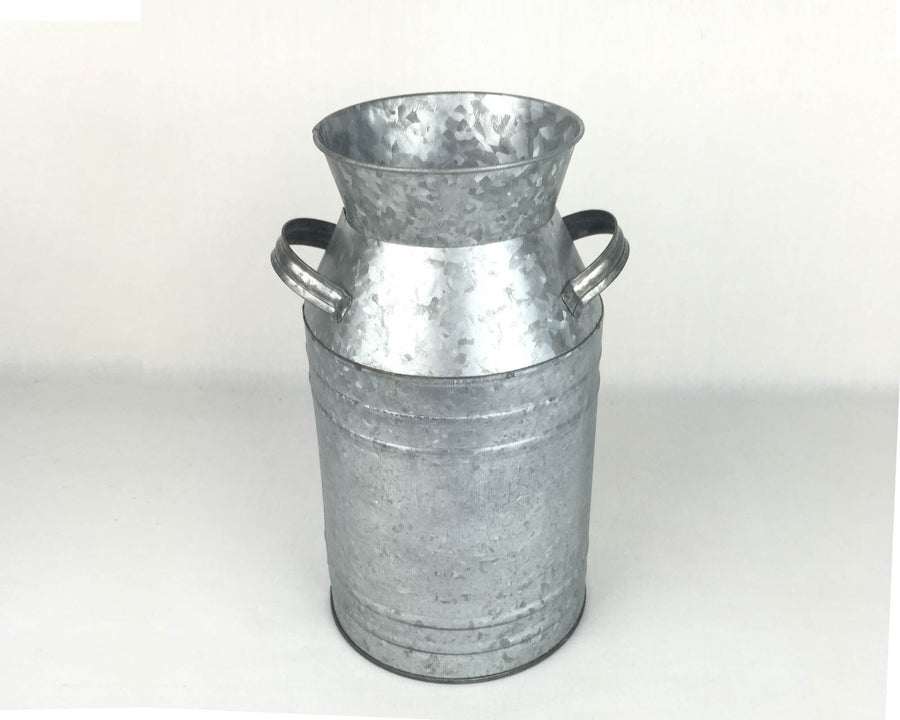 "13""   GALV TIN MILK CAN  Craft Outlet"
