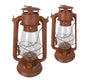 "12"" TIN OIL LANTERN BARN RED  Craft Outlet"
