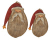 WOODEN BURLAP SANTA HANGING SMALL  Craft Outlet