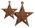 Puffy Star with Star Cut Outs and Hanger, Rustic