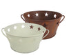 "7.5"" DIM.OFFWHT TIN  BASE/STAR CUTOUT  Craft Outlet"