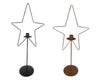 BLACK STAR CANDLE HOLDER SET/2  Craft Outlet