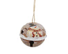 "Tin Bell - Snowman - Rustic - 2.5"" Dia  Craft Outlet"