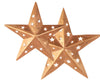 "TIN COPPER STAR W/CUTOUT 6""  Craft Outlet"