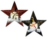 "TIN XMAS STAR, 6"" GREEN  Craft Outlet"