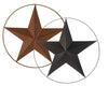 "TIN STAR W/WIRED RING BLACK 24"" DIA  Craft Outlet"