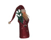 "Birch Maison Decorative Primitive / Farmhouse Antique Standing Paper Mache Santa Figurine with PVC Feather Tree in his Arms - 8"" Tall"
