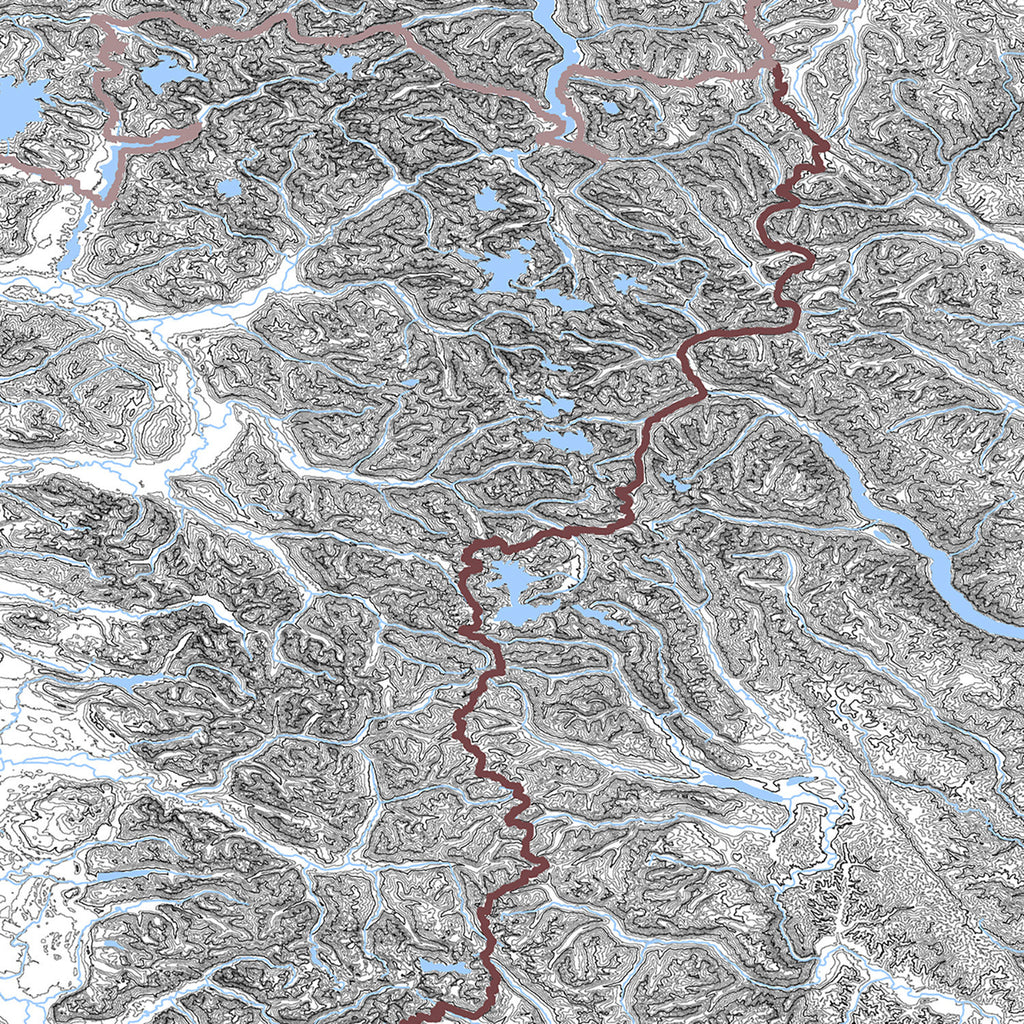 Muir Way Cascade Range Map
