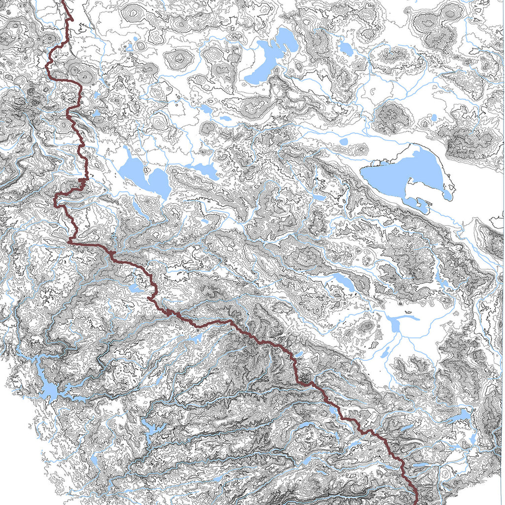Muir Way Sierra Nevada Range Map