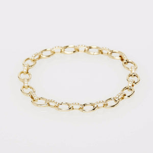 Tiffani Charm Bracelet with Diamonds