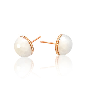 Golf Ball Stud Earrings - Large