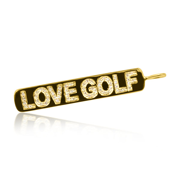 Love Golf Dog Tag Charm