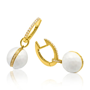 Classic Golf Ball Drop Earrings