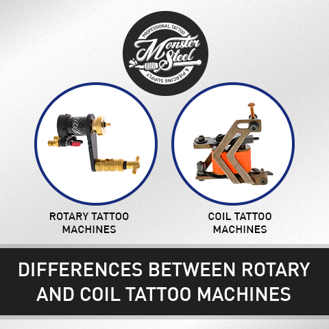 Differences Between Rotary And Coil Tattoo Machines