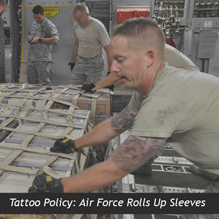 Tattoo policy air force rolls up sleeves for Military tattoo policy 2017