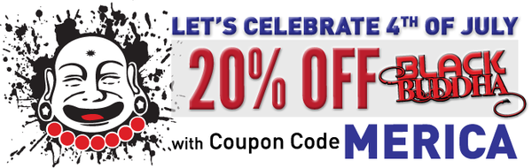 Celebrate the 4th of July with 20% Off Black Buddha tattoo inks