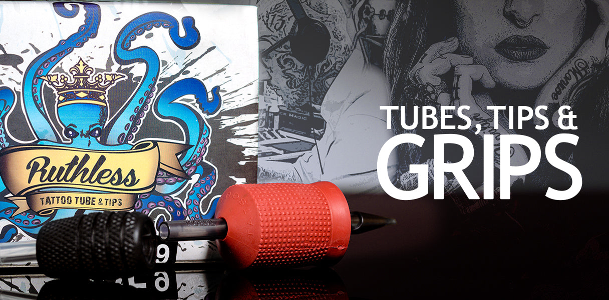 tattoo grips, tubes and tips