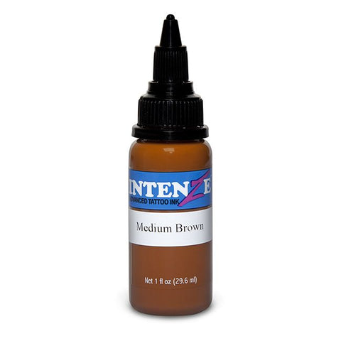 Intenze Tattoo Ink - Medium Brown - Pick Size