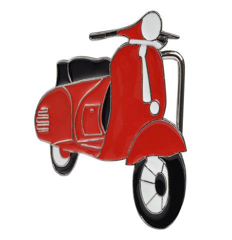 Womens Retro Scooter Vespa Moped Hip Belt Buckle Enamel