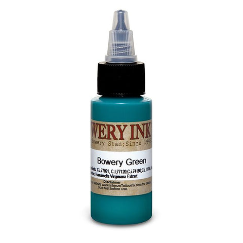 Intenze Tattoo Ink - Green Bowery Series - Pick Size