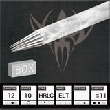 #12 Hollow Round Liner 3.5mm Taper Precision Tattoo Needles - Box of 50